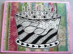 Zentangle Art Birthday card