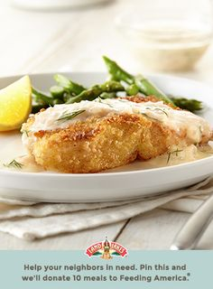 Wary of cooking fish? This flavorful, crispy fish recipe is for you. The buttery lemon dill sauce drizzled over the top is a showstopper. Fish Dishes, Seafood Dishes, Fish And Seafood, Main Dishes, Sauce Recipes, Fish Recipes, Seafood Recipes, Cooking Recipes, Party