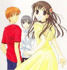 Fruits Basket- Tohru, Kyo and Yuki Manga Art, Manga Anime, Anime Nerd, Grand Prix, Fruits Basket Manga, Tohru Honda, Barakamon, Version Francaise, Anime Reviews