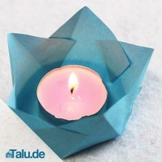 Tea Lights, Christmas Diy, Origami, Candle Holders, Candles, Gucci, Decorations, Crafts, Noel