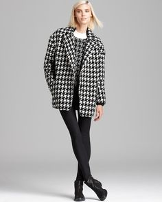 a girl can never have too much houndstooth. or coats. Theory Coat, Sweater & more | Bloomingdale's