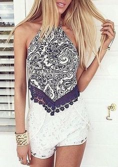 #summer #style / geo print lace