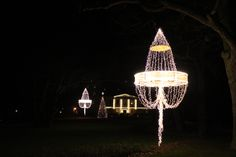 Christmas lights at Chateau Mcely