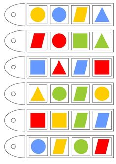 Preschool Learning Activities, Kids Learning, Visual Perception Activities, Learn To Count, Color Shapes, Educational Games, Kids Education, Geometric Shapes, Graffiti