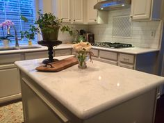 Cambria Torquay countertops installed by Winston Floors + Countertops.