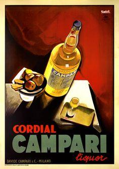 Cordial Campari Marcello Nizzoli Giclee Print