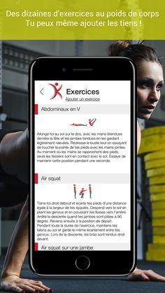 Kalos HIIT - plusieurs exercices au poids de corps avec description