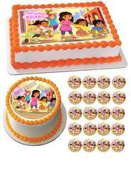 Dora and Friends 1 Edible Birthday Cake Topper OR Cupcake Topper, Decor - Edible Prints On Cake (Edible Cake &Cupcake Topper) Bithday Cake, Cupcake Birthday Cake, Birthday Cake Toppers, Cupcake Cakes, Dora And Friends, Friends Cake, Edible Cupcake Toppers, Edible Cake, Dora Cake