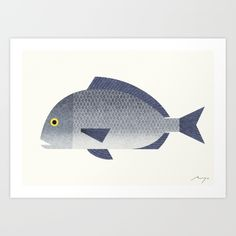 Sea Bream Art Print by Ryo Takemasa