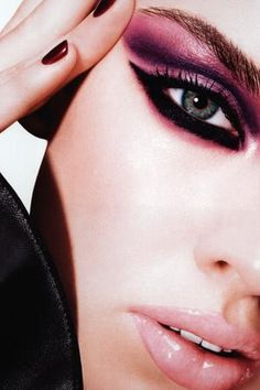 Pink and purple smokey eye make up. #shopcade #beauty #editorial