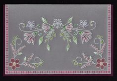 Vellum Crafts, Vellum Paper, Paper Cards, Hobbies And Crafts, Crafts To Make, Parchment Design, Parchment Cards, Card Patterns, Flower Cards