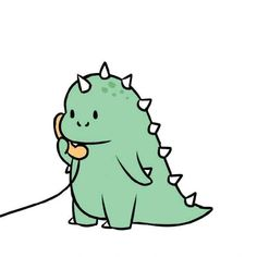Cute Food Drawings, Cute Little Drawings, Cute Kawaii Drawings, Easy Drawings, Cute Cartoon Images, Cute Cartoon Wallpapers, Cartoon Pics, Dinosaur Wallpaper, Bear Wallpaper