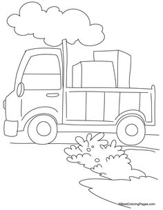 Loaded Truck Coloring Page