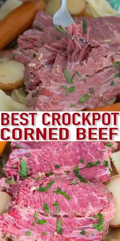 Slow Cooker Corned Beef is incredibly juicy, tender and very flavorful. Made with cabbage, potatoes, and carrots for a well-rounded meal. dishes Slow Cooker Corned Beef with Cabbage [Video] - Sweet and Savory Meals Slow Cooking, Cooking Corned Beef, Slow Cooker Corned Beef, Corned Beef Recipes, Crock Pot Slow Cooker, Crockpot Recipe For Corned Beef And Cabbage, Corned Silverside Slow Cooker, Corned Beef Brisket, Corn Beef And Cabbage