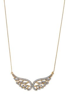 CZ & Black Metal Angel Wing Necklace | Bellissimo Angelo Necklace | Stella & Dot