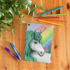 Funda de tableta Unicornio arcoiris por Pendientera | Señor Cool