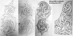 The Engraver's Cafe - The World's Largest Hand Engraving Community - Scrollwork drawing class