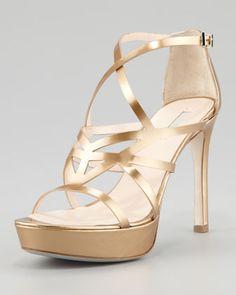 Formal on Pinterest | Platform Gold Strappy Heels and Steve Madden