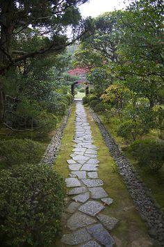 Uraku-en Garden & Jo-an Tea House, Japan. Unique Gardens, Beautiful Gardens, Landscaping With Rocks, Garden Landscaping, Landscaping Ideas, Landscape Design, Garden Design, Path Design, All Nature