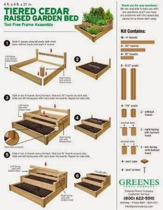 Tiered Cedar Raised Garden Bed The top two tiers inches and 14 inches, respe. - Tiered Cedar Raised Garden Bed The top two tiers inches and 14 inches, respectively) offer the perfect depth for growing deep-ro… Source by le_kos - Cedar Raised Garden Beds, Raised Vegetable Gardens, Building A Raised Garden, Vegetable Garden Design, Raised Beds, Cedar Garden, Vegetable Gardening, Container Gardening, Vegetable Planter Boxes