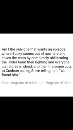 "Yes yes yes!!!! | ""Steve, we found him! ... No, no, this is Phil. Phil Coulson. No, I'm not dead, sorry, probably should have led with that, but you heard we found Bucky, right? No, this is not a prank—don't hang up! Steve? STEVE?!"""