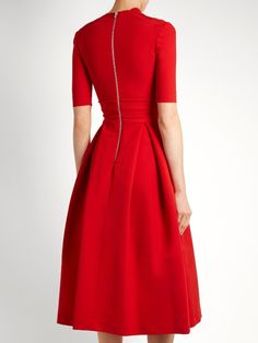 Preen By Thornton Bregazzi Elle stretch-cady dress Prom Dresses With Sleeves, Modest Dresses, Pastel Color Dress, Red Frock, Formal Looks, Elegant Outfit, Thornton Bregazzi, Pattern Fashion, Dress To Impress