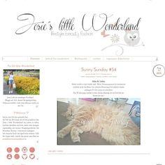 Heute gibt es wieder einen neuen Post. Viel war nicht los, aber lest selbst  www.josieslittlewonderland.blogspot.de