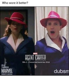 Agent Peggy Carter versus Agent Phil Coulson: Who wore it better?