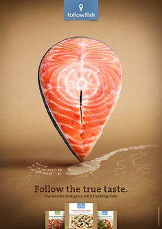 Dernière campagne presse du mouvement Followfish, qui défend la transparence, la durabilité et le goût véritable des produits alimentaires.