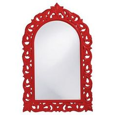 Orleans Wall Mirror in Red