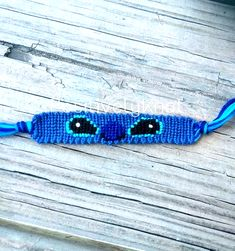 Friendship Embroidery Bracelets Stitch Friendship Bracelet Disney Lilo and Stitch String - This cute bracelet measures approximately 3 inches long and inch wide. It will fit wrists up to 10 inches around. Diy Bracelets Easy, Thread Bracelets, Embroidery Bracelets, Summer Bracelets, Bracelet Crafts, Ankle Bracelets, Braclets Diy, Diy Bracelets With String, Etsy Embroidery