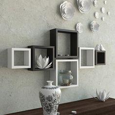 Best 50 Wooden wall shelves design ideas for modern homes 2019 Kids Wall Shelves, Cube Wall Shelf, Unique Wall Shelves, Wall Cubes, Wooden Wall Shelves, Wall Shelf Decor, Cube Shelves, Floating Wall Shelves, Wooden Walls