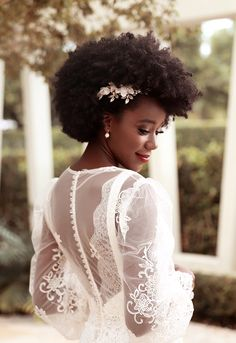 Mini-Omelett-Muffins - New Ideas - New Ideas Black Brides Hairstyles, African Wedding Hairstyles, Natural Wedding Hairstyles, Natural Afro Hairstyles, Bride Hairstyles, Pretty Hairstyles, Bridal Hair And Makeup, Bridal Beauty, Wedding Beauty