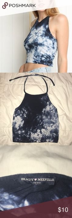 Brandy Melville Tie-dye halter Perfect condition! Brandy Melville Tops Crop Tops