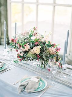 If you LOVE flowers then feast your eyes on these 21 lush floral wedding centrepieces to wow your wedding guests Floral Wedding Decorations, Wedding Flowers, Garden Wedding, Wedding Table, Centrepieces, Light Film, House Cake, House Photography