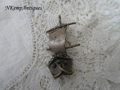 Vintage ship brooch 1930's by Nkempantiques on Etsy