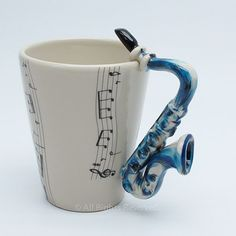 Saxophone Music Lover Mug Original Art Hand Painting Wholesale Price Made of Thailand:Amazon:Everything Else