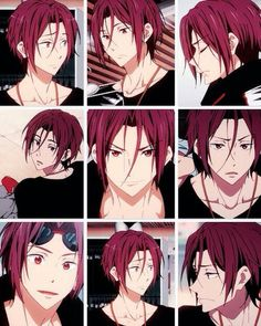 Free! Rin Faces ^-^