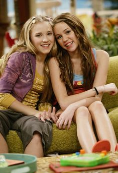Miley and her friend Lily on Hannah Montana
