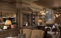 Фото интерьера зала итальянского ресторана