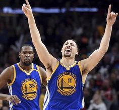 Without Stephen Curry, Warriors escape Portland  113-111 -January 29, 2017 In their first game this season without Steph, Durant (33 points, 10 rebounds, six assists) and Thompson (27 points, six rebounds) shouldered the heaviest offensive loads.