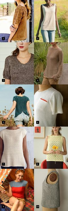 Best summer sweater knitting patterns. Knitted T Shirt