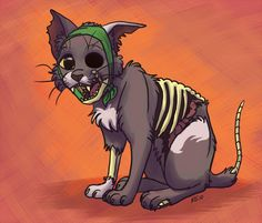 Zombie Art | zombie cat by greykitty from wa united states challenge zombies voodoo ...