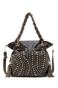 Segolene Woven Chain Link Stud Satchel Bag on HauteLook