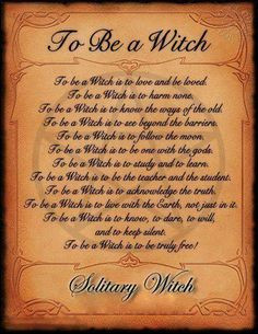 To be a witch - Pinned by The Mystic's Emporium on Etsy