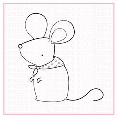 cute  mouse  polka dot  scarf  digital stamp  birthday