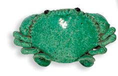 A CHINESE CERAMIC CRAB WALL POCKET,