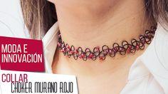 ¡Continuamos en el 2016! Caro Jaramillo nos explica cómo hacer un hermoso collar choker con murano rojo. Ingresa a nuestro vídeo haciendo clic en el pin.  Una tendencia de los años 90 que estará de moda en el 2016. #Moda #Accesorios #Joyas #Magia #Violeta #bisutería #Color #Tendencias #Diseños #Insumos #DIY