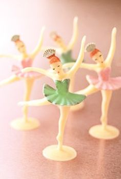 Vintage Ballerinas. I remember when I used to get these on my birthday cakes!