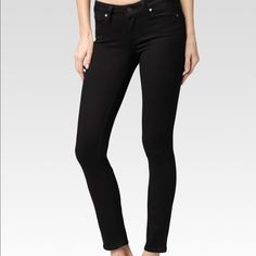 Paige skinny jeans - NWT - size 26/27 Paige Verdugo ankle black overdye jeans - NWT- size 27. Soft and stretchy, rich black color. They may run small, and will likely fit a 26.  Inseam is 28 in. Such a great staple for any wardrobe!  Looks great casual and dressed up!  Brand new! Paige Jeans Jeans Ankle & Cropped